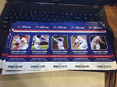 2015 Chicago Cubs Season Ticket Stub Pick Your Game Bryant Arrieta Rizzo Soler 2 7