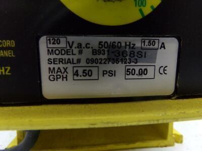 LMI Milton Roy B931-368SI 120VAC 1.5A 50PSI Metering Pump 3