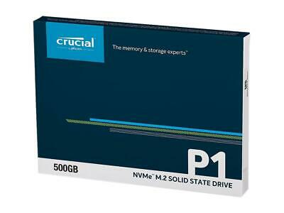 Crucial 500GB P1 SSD M.2 PCIe NVME NAND Internal Solid State Drive 2000MB/s NEW 2