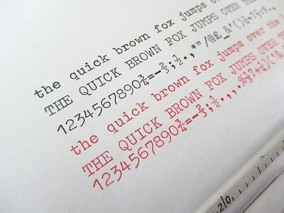 1 Smith Corona Clipper Black/red Typewriter Ribbon Twin Spool-Air Sealed+Eyelets 2