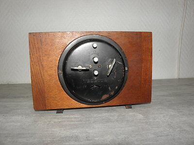 vintage wood clock alarm vedette retro desk  Art Deco design Mechanics uhr 3