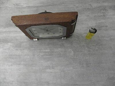 vintage wood clock alarm vedette retro desk  Art Deco design Mechanics uhr 4