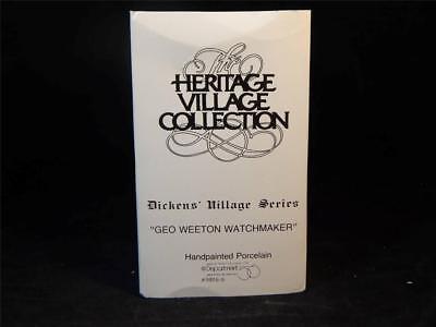 Dept. 56 Heritage Village Dickens Village Weeton Watchmaker #5926-9 w/Box FS 2