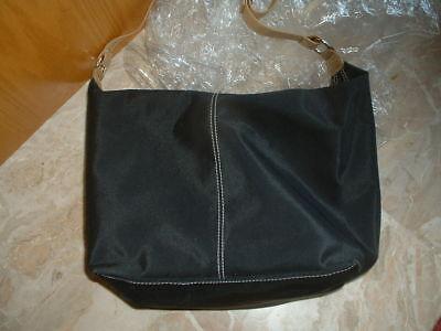 SAMSONITE SHOULDER BAG borsa grande tela nera e pelle