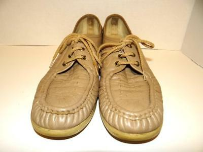 ba7cadfe6e ... SAS Bounce Womens Lace Up Moccasins Beige Brown Perforated Leather Size  10 N 3