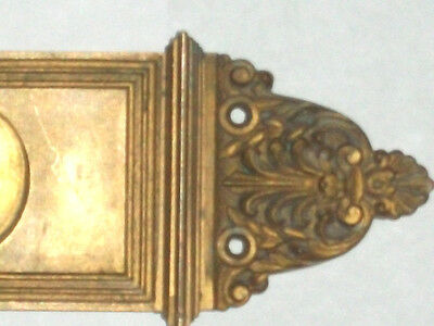 "Antique Eastlake Victorian Pocket Door Pull 10 1/2"" x 2 1/2"" Stamped 3278 3"