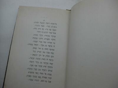 1904 New York 2 1st EDITIONS by Menahem  Dolitski נגינות שפת ציון / החלום ושברו 2