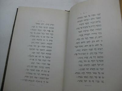 1904 New York 2 1st EDITIONS by Menahem  Dolitski נגינות שפת ציון / החלום ושברו 3