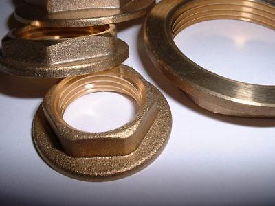 """Kelm Nickel Plated Brass Adaptors 3//4/"""" BSP LOCKNUT BRASS NICKEL PLATED KM26WN"""