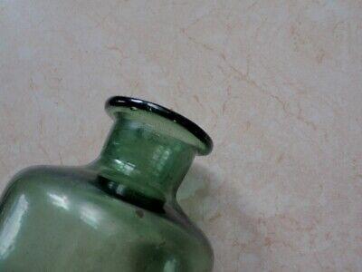 Flasche 18./19. Jh. süddeutsch | Apotheken Gefäß Abriss Waldglas . 15cm. 1+ . 6