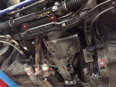 BMW E36 M3 X-Brace Ölwannenschutz Unterfahrschutz & untere Domstrebe strut bar 4