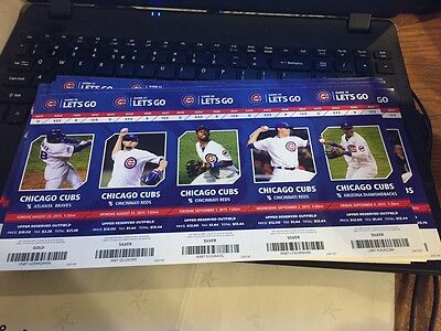 2015 Chicago Cubs Season Ticket Stub Pick Your Game Bryant Arrieta Rizzo Soler 2 5