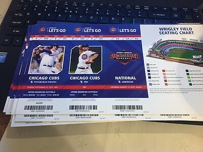 2015 Chicago Cubs Season Ticket Stub Pick Your Game Bryant Arrieta Rizzo Soler 2 8