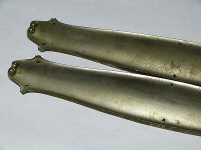 Large Scale Pair of Nickel Plated Cast Brass Push Plates Swinging Door 2