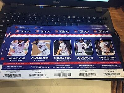 2015 Chicago Cubs Season Ticket Stub Pick Your Game Bryant Arrieta Rizzo Soler 2 4