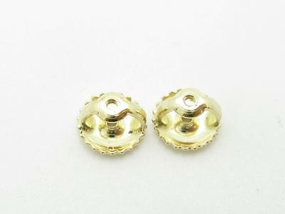 2P 10K  SOLID YELLOW GOLD SCREW ON SCREW OFF REPLACEMENT EARRING BACKS 1PAIR