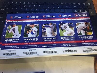 2015 Chicago Cubs Season Ticket Stub Pick Your Game Bryant Arrieta Rizzo Soler 6