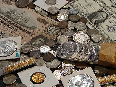 ☆Estate Sale Old Us Coins Lot  ☆ Gold Silver Bullion☆ Currency☆ 50 Years Old+ 3
