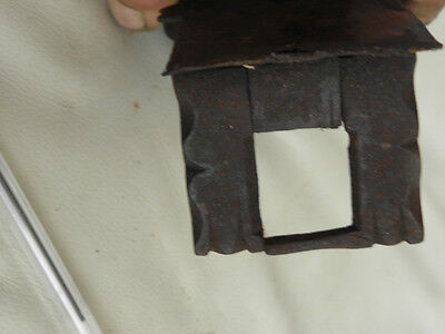 Antique Primitive Lock Key door Hand Forged Mechanism Harware Latch old vintage 6