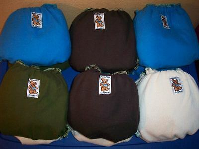 Random Try One MamaBear Cotton One Size Fitted Cloth Diapers - trim and cute! 3