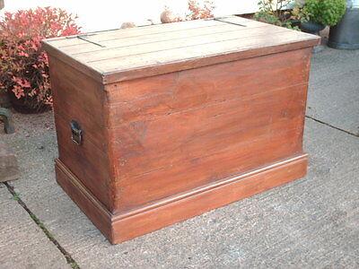 Large Antique  Pine  Chest / Bedding  Box 5
