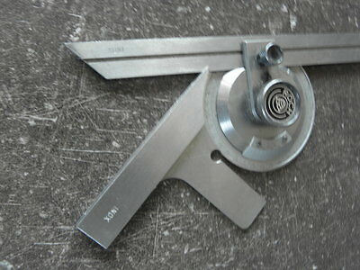 vintage tool roch swiss Combination Square Engineers Toolmakers Lathe PROTRACTOR 4