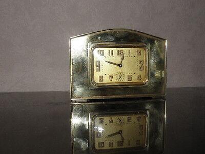 vintage clock alarm Bayard retro desk  Art Deco design Mechanics uhr old bauhaus 6