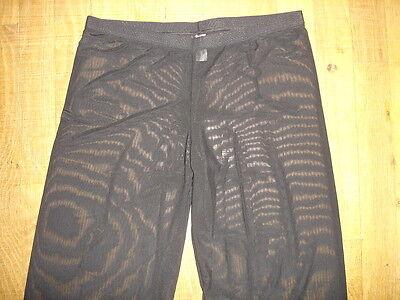 Pantalon sheer taille L noir totale transparence sexy neofan gay inter SEUL P 2