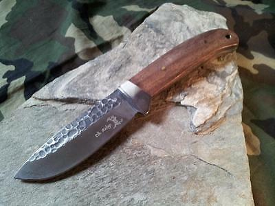 "Elk Ridge Rocky Grooved Full Tang Wood Stainless Fixed Blade Knife 8"" 268 3"