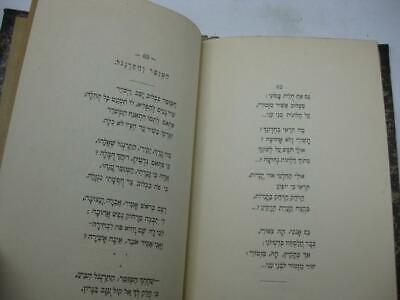 1904 New York 2 1st EDITIONS by Menahem  Dolitski נגינות שפת ציון / החלום ושברו 10