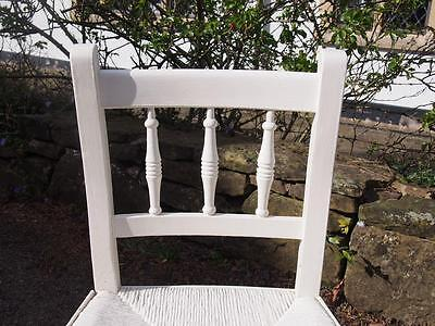 A Very Sweet Little Antique Painted Edwardian Era Childs Chair Shabby Chic Style 2