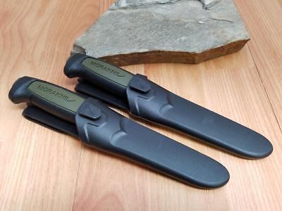 2 Pc Lot Mora Morakniv Basic 511 Carbon Steel Green & Black Camp Knife 02210 3
