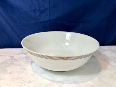 Bernardaud Limoges Porcelain Kent Bleu Saladier / Salad Bowl / Insalatiera NEW 2
