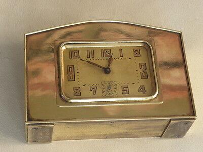 vintage clock alarm Bayard retro desk  Art Deco design Mechanics uhr old bauhaus 2