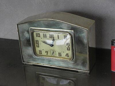 vintage clock alarm Bayard retro desk  Art Deco design Mechanics uhr old bauhaus 4