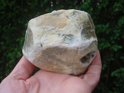 RARE Acheulian Lower Palaeolithic Patinated Flint CORE CHOPPER Hampshire UK 5