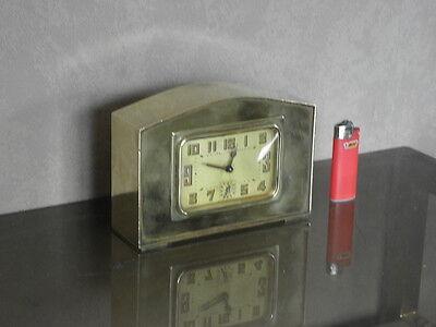 vintage clock alarm Bayard retro desk  Art Deco design Mechanics uhr old bauhaus 7