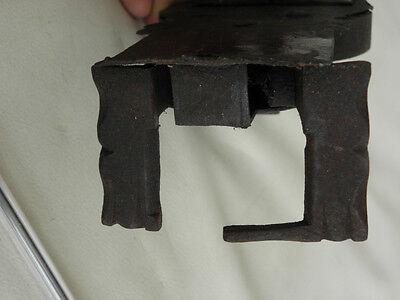 Antique Primitive Lock Key door Hand Forged Mechanism Harware Latch old vintage 5