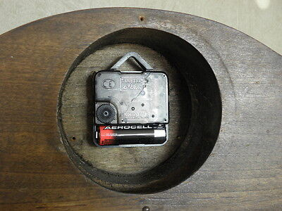vintage wood clock  Electro-Mechanical Battery art deco vtg retro old carved 4