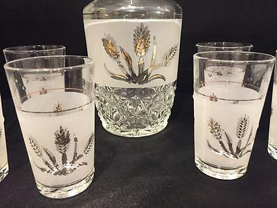 914af5a3923e ... Vintage Cerve Cut Glass Frosted Decanter With 6 Shot Glasses Italy 2