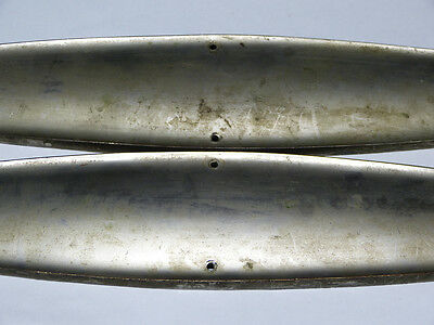 Large Scale Pair of Nickel Plated Cast Brass Push Plates Swinging Door 5