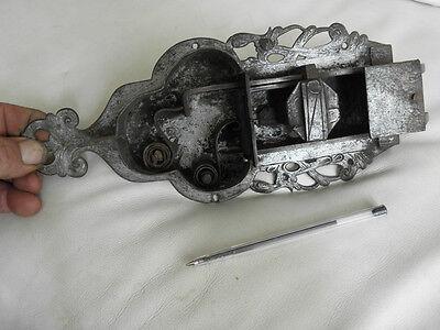 antique ornate Slide Bolt Latch Lock door old Castle Handmade SMITH MADE 8
