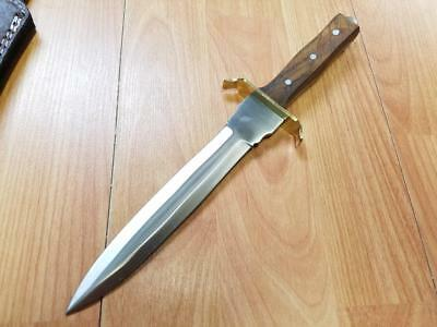 "Commando Dagger 11.5"" Fixed Full Tang Double Edge KNIFE w/ Wood Handle 3363 2"