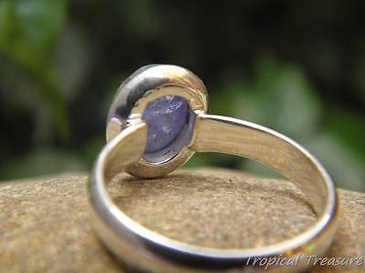 Tanzanite & 925 SOLID Silver RING (Sizes 6 1/2 - 8 1/2, M 1/2 - Q 1/2)
