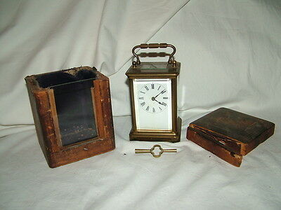 very old antique carriage clock 7
