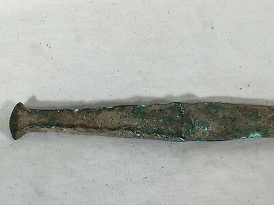 Ancient Real Rare Luristan Bronze Flanged Dagger ca. 1000 BC 4