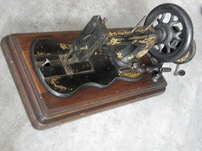 ANTIQUE SEWING MACHINE singer old Hand Crank TOOLS vintage century iron 8