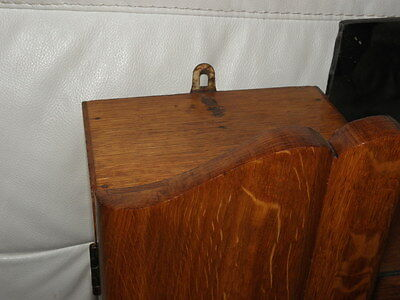 Vintage Shelf stand Cabinet Cupboard Furniture Makeup Storage Mirror old wood 8