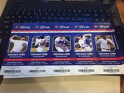 2015 Chicago Cubs Season Ticket Stub Pick Your Game Bryant Arrieta Rizzo Soler 4