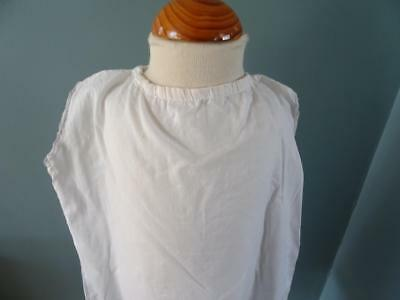Antique Petticoat Victorian Young Girls White Cotton Embroidered Lace 4